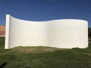 Obra Curven Wall en Valdelasfuentes