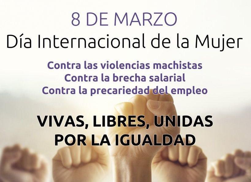 PSOE E IZQUIERDA UNIDA DE ALCOBENDAS PIDEN AL PLENO EL APOYO A LA HUELGA FEMINISTA EL 8 DE MARZO CONTRA LA DISCRIMINACIÓN A LAS MUJERES 🗓