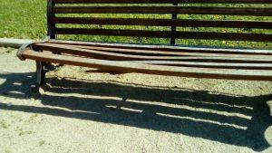 Banco en el Parque de Galicia