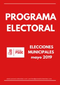 Portada Programa Electoral 2019-2023