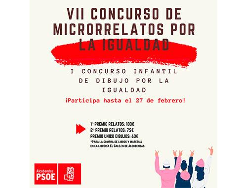 El PSOE De Alcobendas Convoca El VII Concurso De Microrrelatos Por La Igualdad