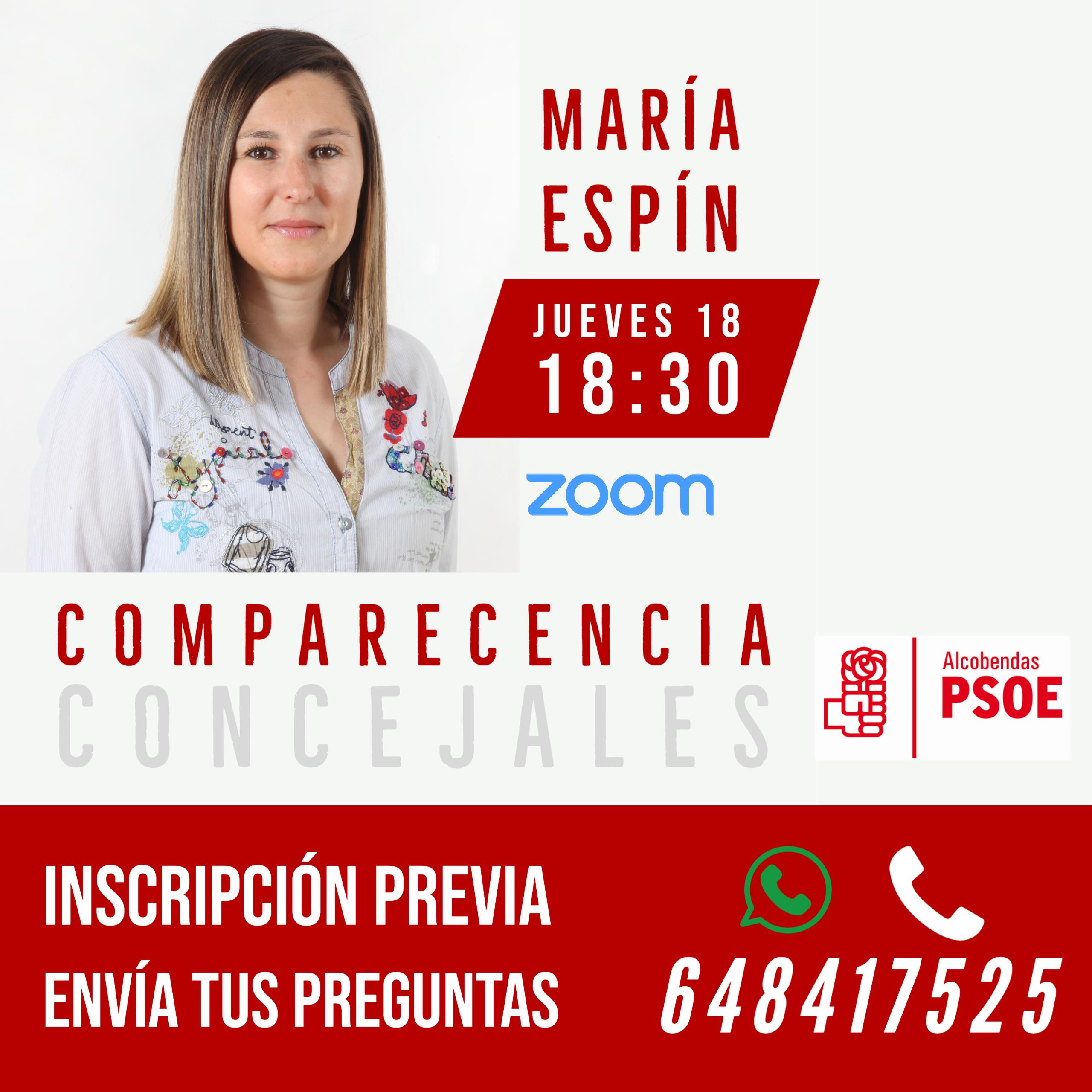 COMPARECENCIA MARIA ESPIN